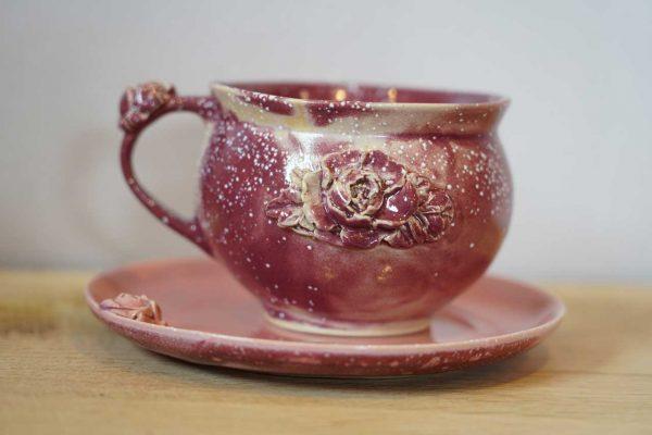 keramikset tasse untertasse