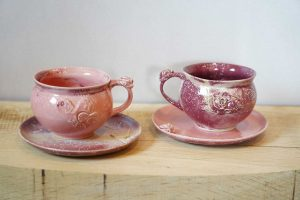 keramik set tasse untertasse